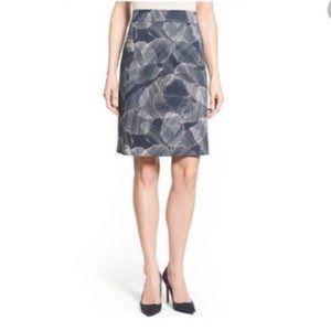 BOSS HUGO BOSS SKIRT Victyna Printed A-line Skirt